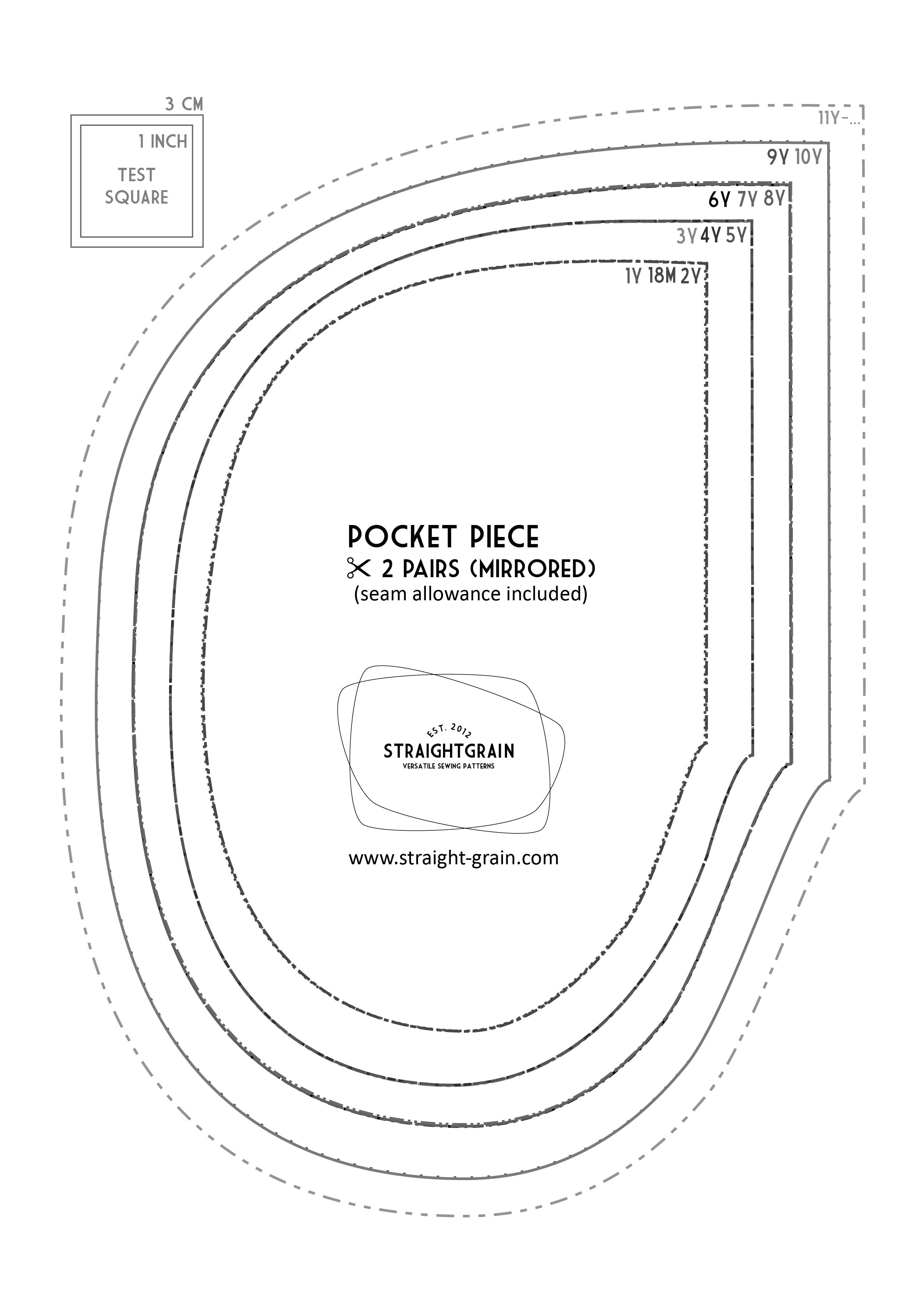photo about Pocket Pattern Printable called Guidebook and no cost models: Including within-seam pockets in direction of a