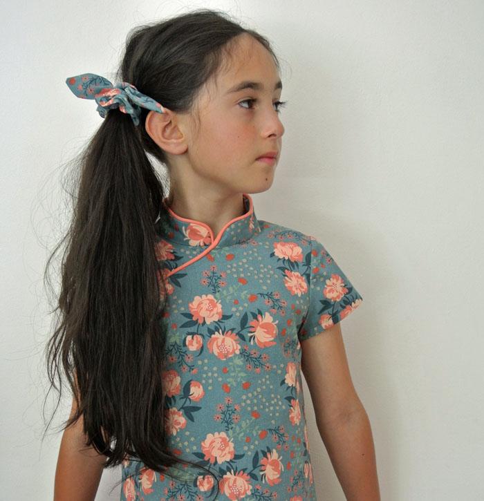 Laure Qipao Dress English Straightgrain